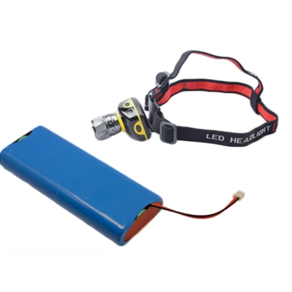 Outdoor portable headlight lithium battery